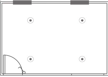 Plan 12, Portable Changing Room - 4.8m x 3.0m