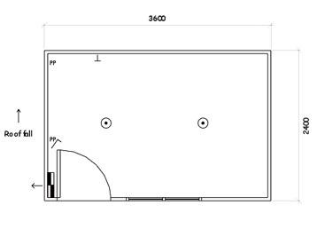 Plan 1, 3.6m x 2.4m Office or Multi-Purpose