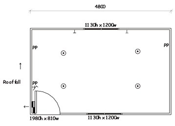 Plan 2, 4.8m x 3.0m Multi-purpose Office