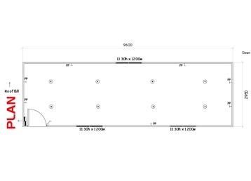 Plan 4, 9.6m x 3.0m Office or Multi-Purpose